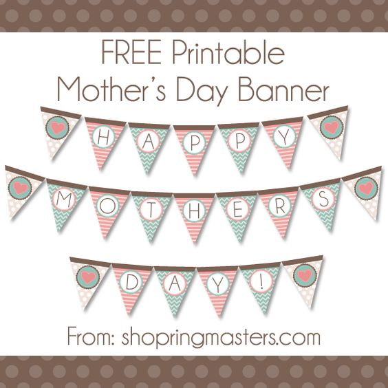 mothers mother 39 s day and printable banner on pinterest. Black Bedroom Furniture Sets. Home Design Ideas