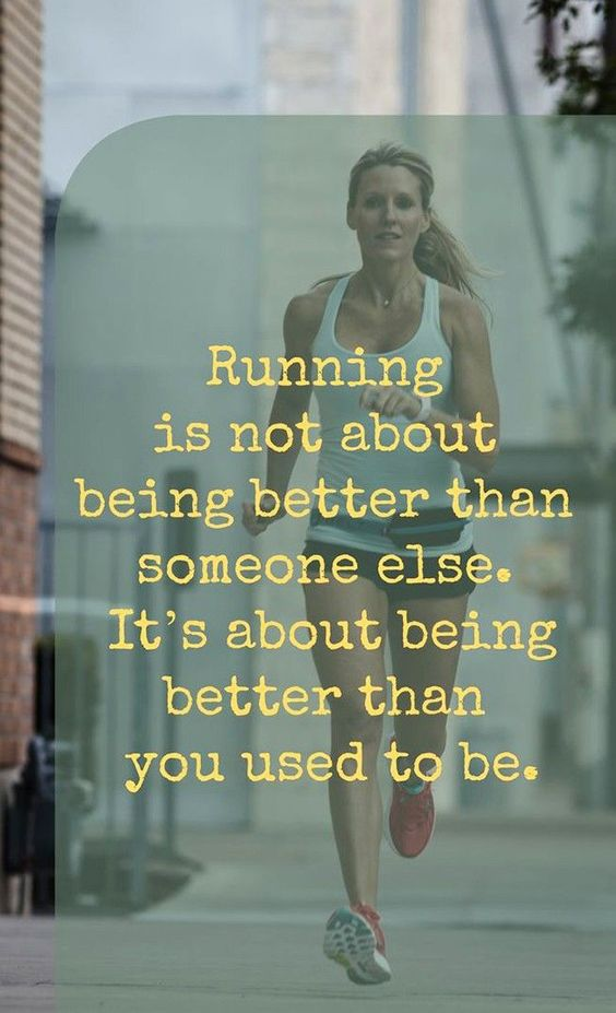 Yes. Wish I never stopped running all those years ago...but I'm making a come back and I'm not quitting this time!!: