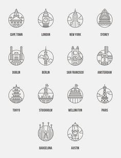 Íconos de ciudades