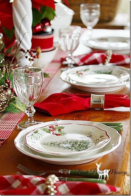Christmas Table | Christmas Place Setting