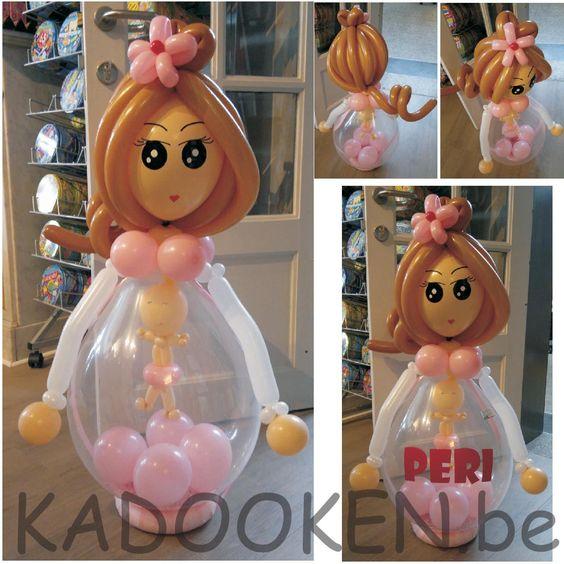 Mama met babyballon, geboorteballonnen, heliumballonnen, ballondecoratie, ballonnen babyborrel, versiering doop