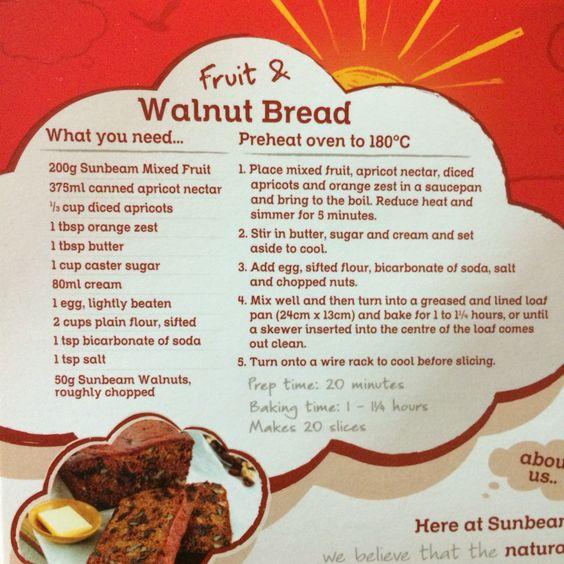 Fruit and walnut bread