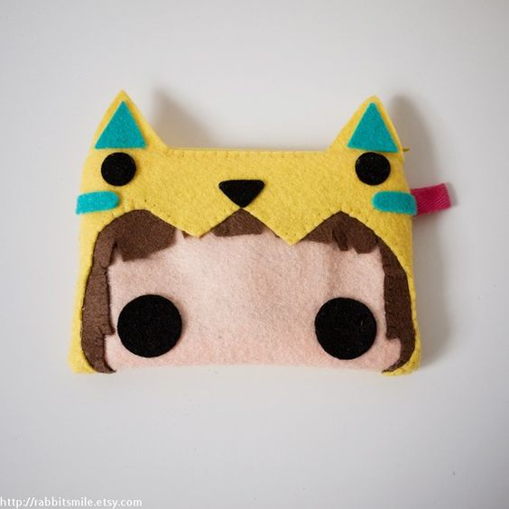 Felt iPhone Case / iPhone 4 Case / iPod touch Case by rabbitsmile, $14.00