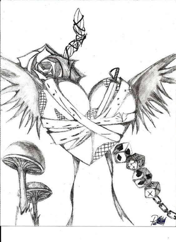 Emo heart drawings random emo drawing by vmpnproudofit for Random sketch ideas