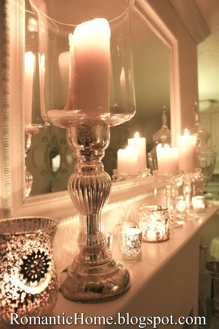 My Romantic Home: January Mantel - Show and Tell Friday