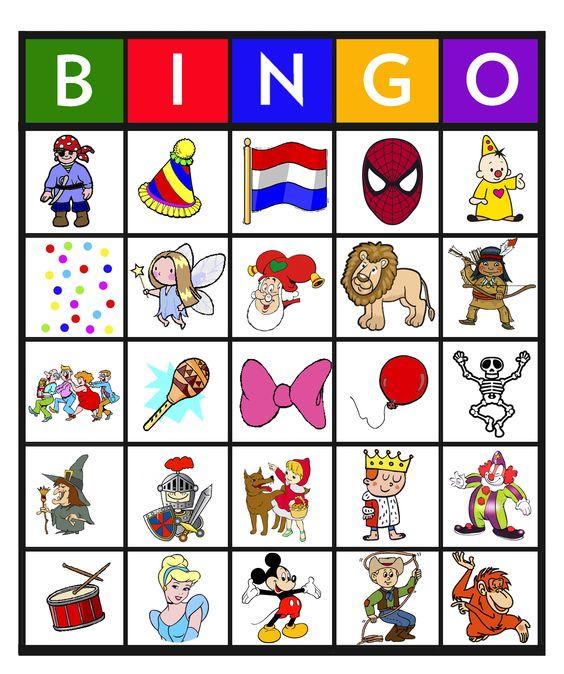 bingo carnaval 25 thema circus pinterest bingo