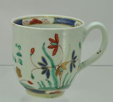 Antigo 18th Century Worcester kakiemon Floral Pintado À Mão 1770 Xícara De Café