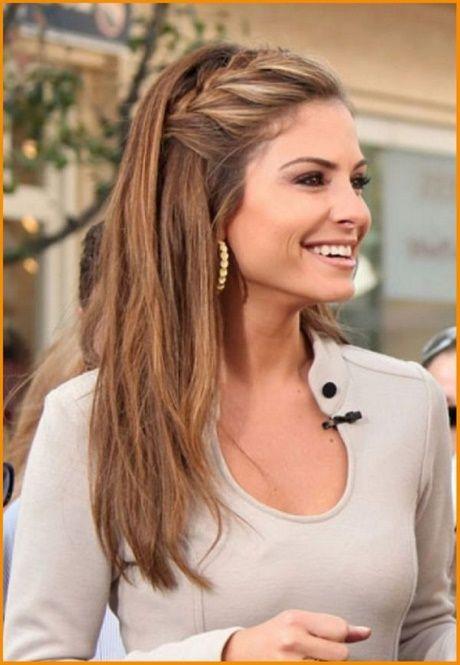 Frisur Fur Lange Haare Einfach Dutt Halboffen Schnelle Mittellangeshaar Frisuren Lange Haare Halboffen Mittellange Haare Frisuren Einfach Frisuren Langhaar