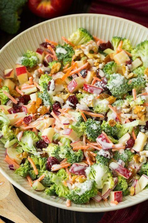 recetas de ensaladas de otoño de brocoli