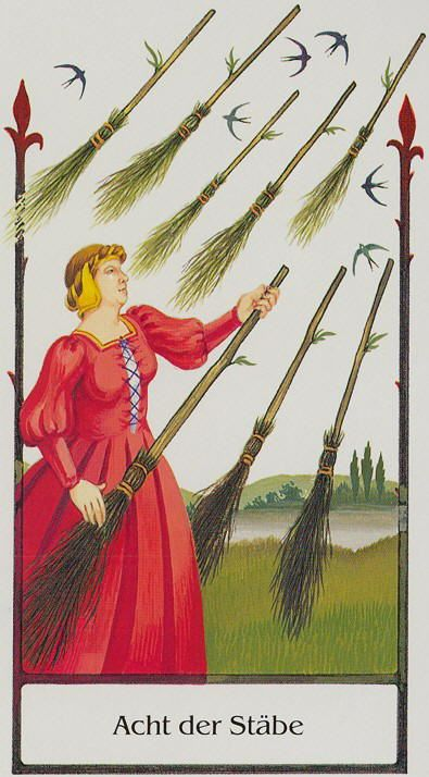 Eight of Rods - Tarot of the Old Path