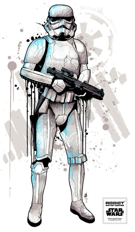 Storm Trooper by Mitchy Bwoy      New Star Wars series coming soon!!  Stormtrooper (one for 4 new designs)  Addict x Star Wars x Mitchy Bwoy  Check our Facebook for more details»