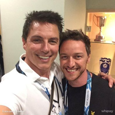 McAvoy with John Barrowman  :D