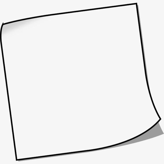Simple Square Borders Clip Art Borders Sticky Notes Notes