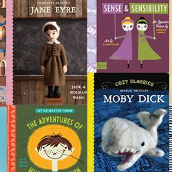 Captain Ahab for Crawlers: Classic Literature Board Books | Introduce the littlest bookworms to the world of classic literature with these nine inspired and delightful board books.