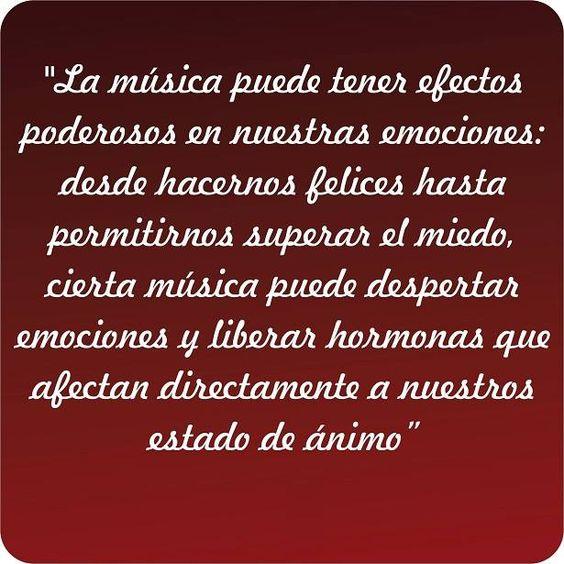 La #música puede tener efectos... #frases #palabras