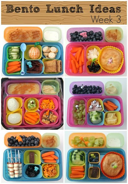 Bento Lunch Ideas - a whole week's worth -Skye