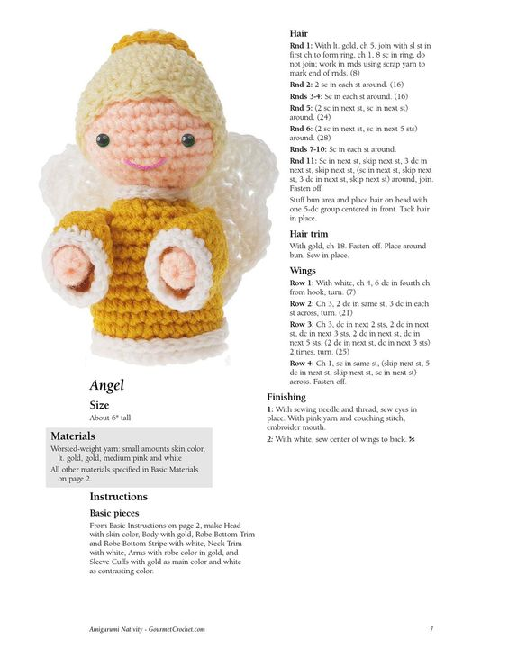Amigurumi Nativity Free Pattern : nacimiento crochet Belenes, angeles de navidad y ...