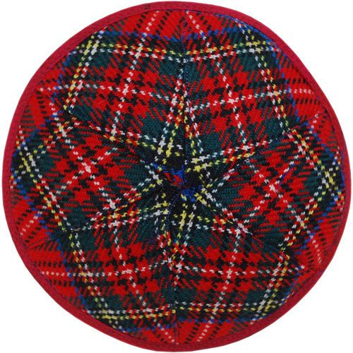Kippah / yarmulka made of Scottish tartan by designkippah on Etsy, $22.00