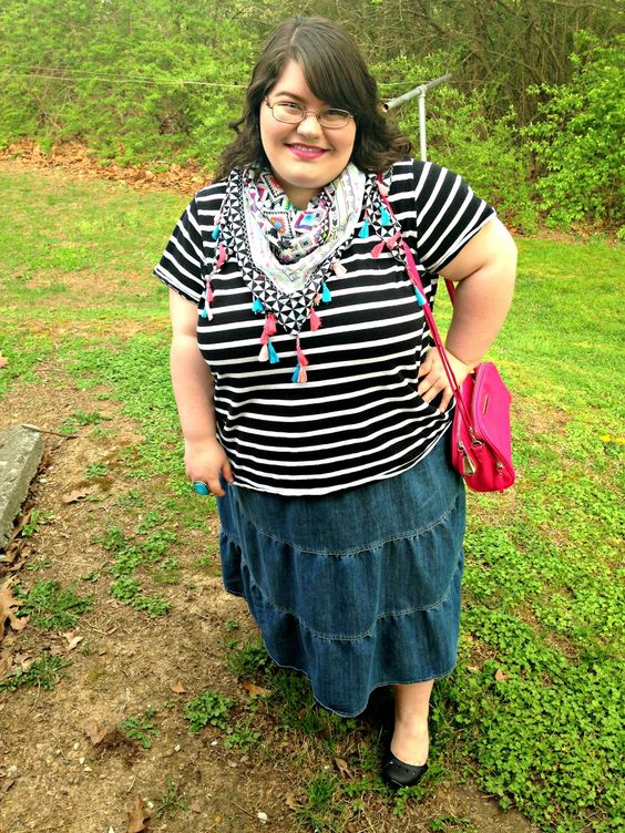 Unique Geek: Plus Size OOTD: Stripes & Color: