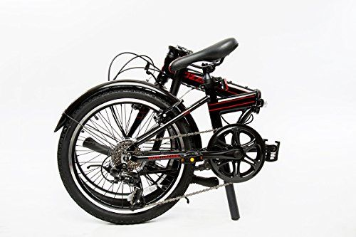 Euromini Zizzo Via 20 Folding Bike With Fenders Sky Blue