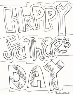 Cute Father's Day coloring pages | happy mother's/father's ...