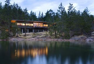 One level moder.  Cool Plans Cottage In Canada | Modern House Plans Designs 2014