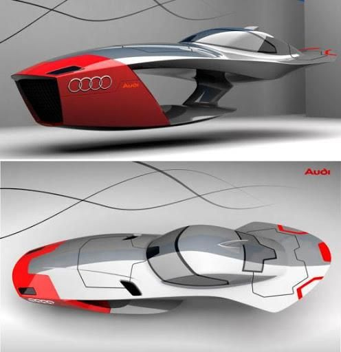 Audi Calamaro Concept flying car, doesn't it look like it is something right…