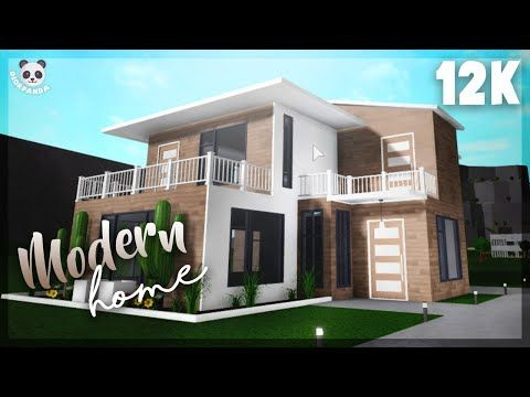 Roblox Bloxburg 2 Story Modern Home Exterior Youtube In 2020 Modern House Exterior Two Story House Design House Layouts