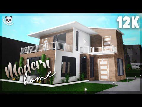 Roblox Bloxburg 2 Story Modern Home Exterior Youtube Modern House Exterior Unique House Design House Exterior