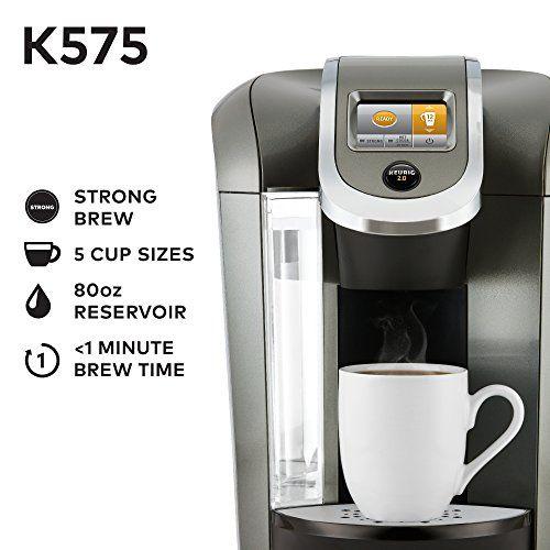 Keurig K575 Single Serve K Cup Pod Coffee Maker With 12oz Brew