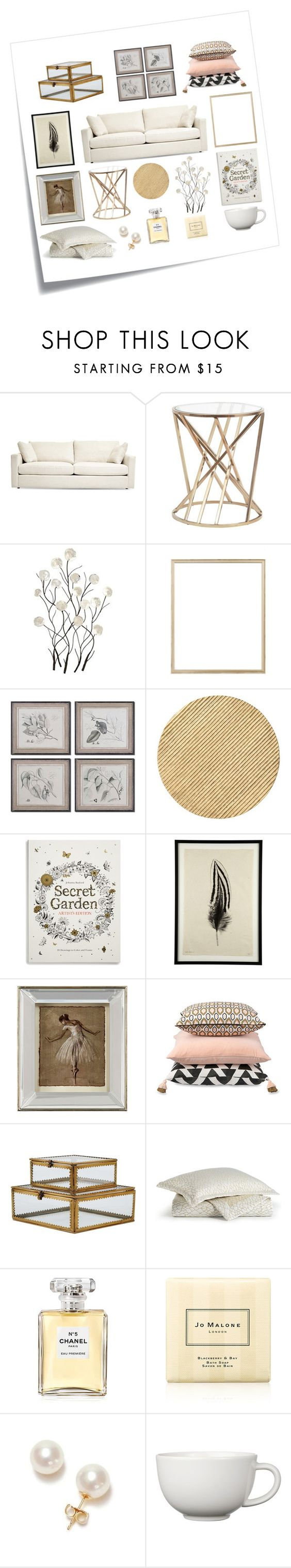 """""""Untitled #351"""" by bojana-687 ❤ liked on Polyvore featuring interior, interiors, interior design, home, home decor, interior decorating, Post-It, Universal Lighting and Decor, Rifle Paper Co and Uttermost"""