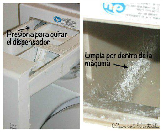 dispensador de detergente sucio