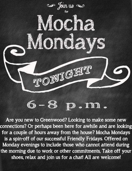 Mocha Mondays at the GMFRC 6 p.m.