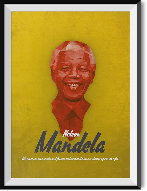 "Mandela ""Do right"" quote poster"
