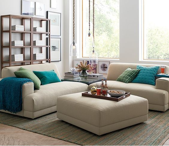 Nice Living Rooms: Annexe 3-Piece Sectional Sofa- Nice Way To Split Up A