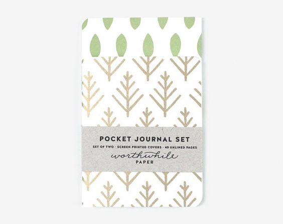 Pocket Journal Set - Leaf and Branch