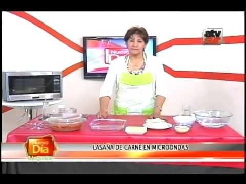 Lasaña En Microondas Youtube Lasaña De Carne Lazaña De Carne Receta De Lasaña
