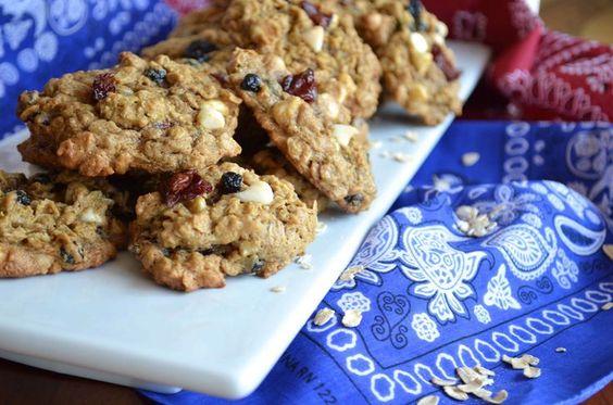 #redwhiteblue #oatmeal #cookies #flourless #brownsugar #4thofjuly #baking