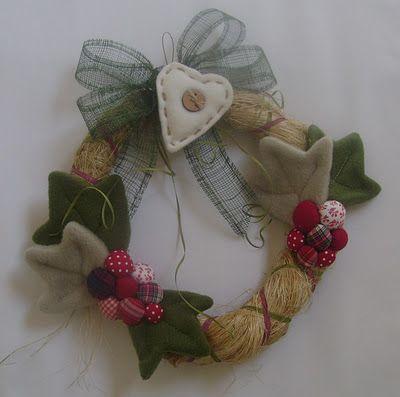 Corona de Navidad con formio