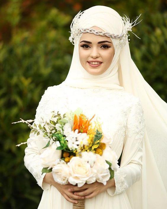 صور عرايس جميلة احلى صور عرسان Turkish Wedding Dress Muslim Wedding Muslim Wedding Dresses