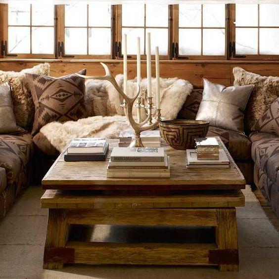cozy rustic home decorating Fabrics