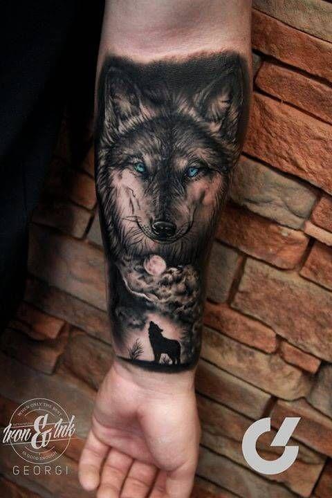 Imagenes de tatuajes de lobos en el brazo