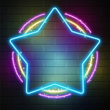 Star Blue Neon Sign On Brick Wall Star Clipart Star Neon Png And Vector With Transparent Background For Free Download In 2020 Neon Signs Neon Photoshop Design Ideas