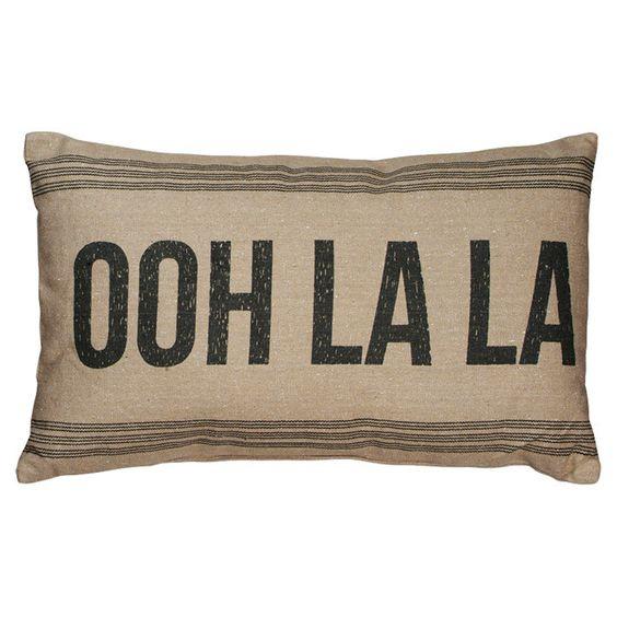 Ooh La La Pillow in Tan