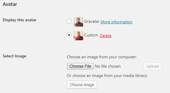 custom user avatar plugin wordpress