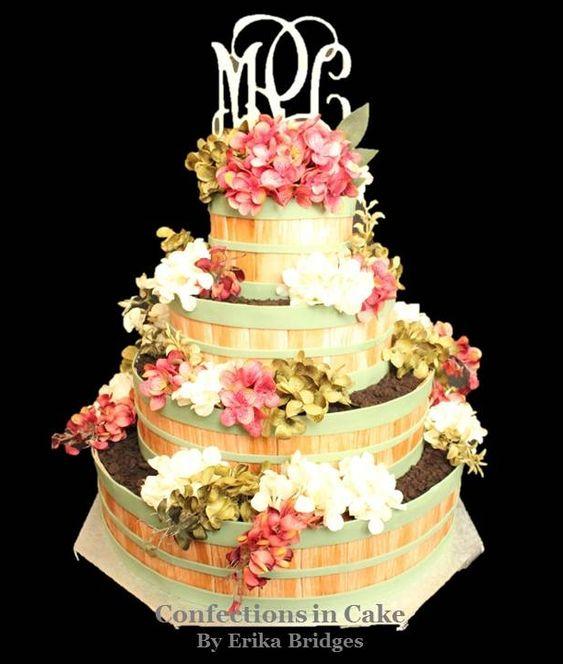 Bushel Baskets Basket Of Flowers And Wedding Cakes On Pinterest