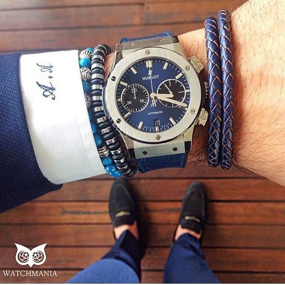 When you can't decide what your favourite item is! Loving all the details from this look via @whatusmenlike  #GroomInspiration #MensFashion #MensStyle #MensWear #WristWatch #Bracelet #Fashion #Style #PocketSquare #Hublot #Watch #Watches #WristWatch