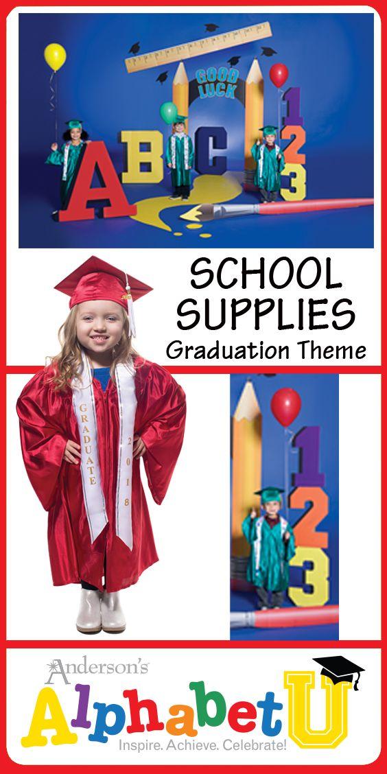 School Supplies Complete Prop Set Preschool Graduation Theme Kindergarten Graduation Kindergarten Graduation Themes