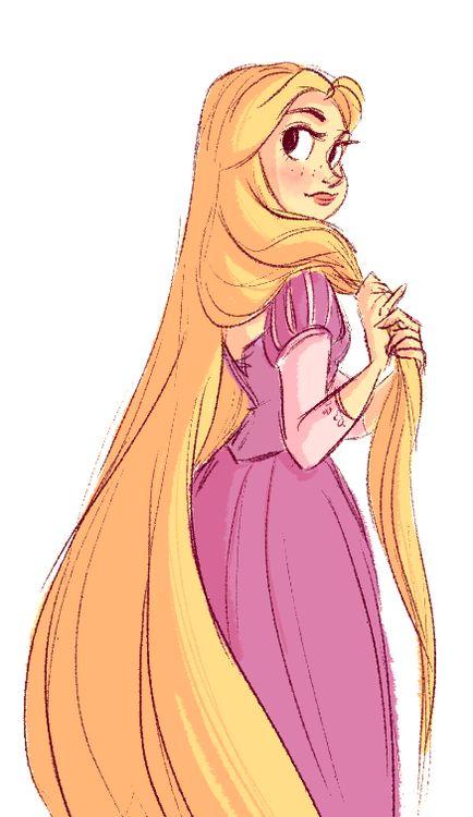 snarkies: quick Rapunzel sketch. I haven't drawn her in so ...