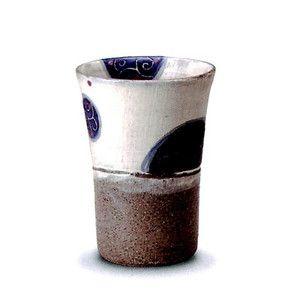 マグカップ おしゃれ/和風/信楽焼/食器/ギフト 和み唐草(青)